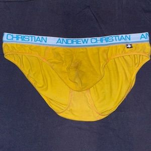 Andrew Christian yellow briefs